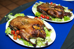 Marinated зажарил здоровые сваренные куриные грудки Стоковое Изображение RF