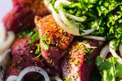 Marinated мясо Стоковая Фотография RF