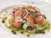 marinated огурцом семги салата Стоковые Фото