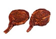 2 marinated свиной отбивной Стоковое Фото
