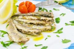 Marinated anchovies Royalty Free Stock Photo
