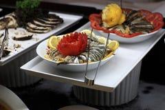 Marinated anchovies Royalty Free Stock Photos