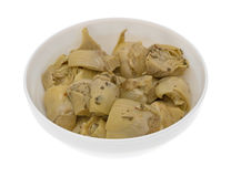 Marinated artichoke hearts in bowl Royalty Free Stock Photos