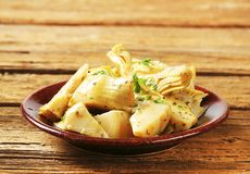 Marinated artichoke hearts Royalty Free Stock Images
