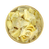 Marinated Artichoke Hearts  Overhead View Royalty Free Stock Images