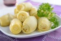 Marinated artichokes Stock Photo