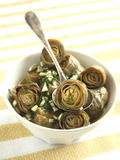 Marinated Artichokes in bowl Royalty Free Stock Photo