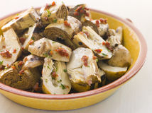 Marinated Baby Artichoke Salad Royalty Free Stock Images