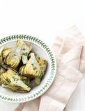 Marinated Baby Artichokes Stock Photo