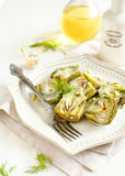 Marinated Baby Artichokes. Royalty Free Stock Images
