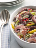 Marinated Baby Octopus Salad with Chilli Royalty Free Stock Photography