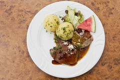 Marinated beef with Royalty Free Stock Photography