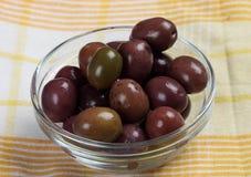 Marinated black olives Royalty Free Stock Photo
