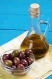 Marinated black olives Royalty Free Stock Photos