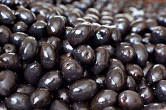 Marinated black olives Stock Photos