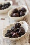 Marinated Black Olives Stock Images