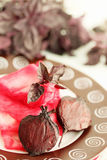 Marinated cabbage and beet Stock Photography