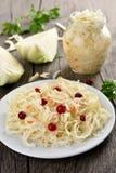 Marinated cabbage (sauerkraut) Royalty Free Stock Images