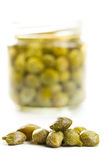 Marinated capers Stock Photography