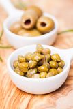 Marinated capers Stock Image