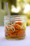 Marinated Carrot Salad. In Vinger, Shallots, parsley, olive oil, salt, pepper Royalty Free Stock Images