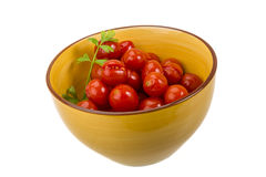 Marinated cherry tomato Royalty Free Stock Images