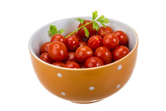Marinated cherry tomato Stock Image