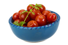 Marinated cherry tomato Royalty Free Stock Photo