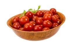 Marinated cherry tomato Royalty Free Stock Photography