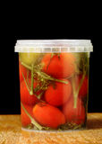 Marinated cherry tomatoes Royalty Free Stock Photo