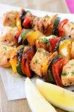 Marinated chicken kebabs Stock Photos