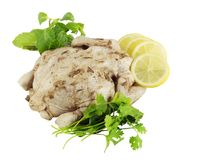 Marinated chicken ready to roast Stock Photography