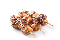 Marinated chicken skewer Stock Images