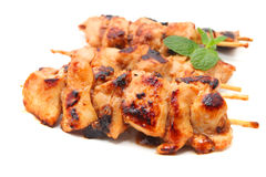 Marinated chicken skewer Royalty Free Stock Photography