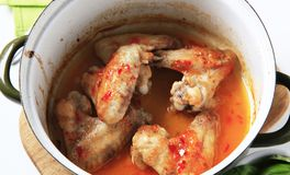Marinated chicken wings Stock Images