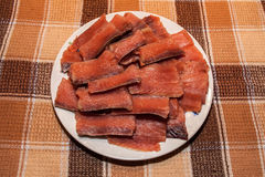 Marinated Chum Salmon. Royalty Free Stock Image