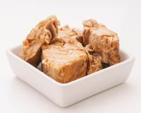 Marinated chunks of tuna Royalty Free Stock Photography