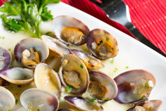Marinated clams Stock Image