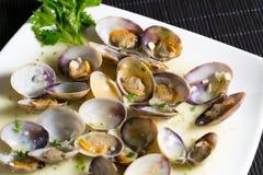 Marinated clams Stock Photo