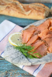 Marinated cold cuts of salmon Stock Photography