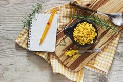 Marinated corn in a bowl Stock Photos