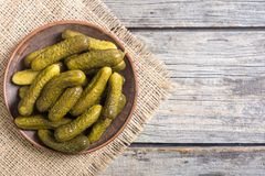 Marinated cucumber in plate Royalty Free Stock Image