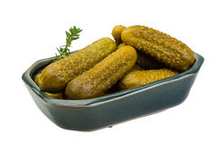 Marinated cucumbers royalty free stock photography