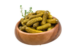 Marinated cucumbers royalty free stock images