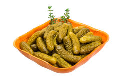 Marinated cucumbers stock images