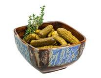 Marinated cucumbers stock image