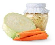 marinated den glass jaren för kål sauerkrauten Royaltyfria Foton