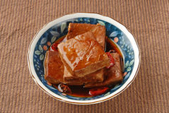 Marinated dried tofu Royalty Free Stock Photography