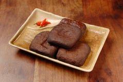 Marinated dried tofu Stock Photo