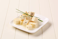 Marinated Feta Cheese Royalty Free Stock Photography